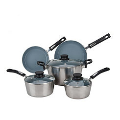 Silver Aluminum 8-pc. Non-Stick Cookware Set