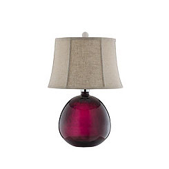 Purple Art Glass Table Lamp