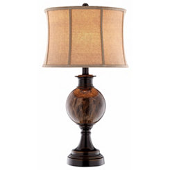 Polished Brown Orb Table Lamp
