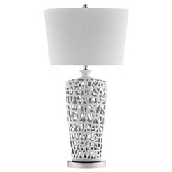 Abstract White Ceramic Table Lamp
