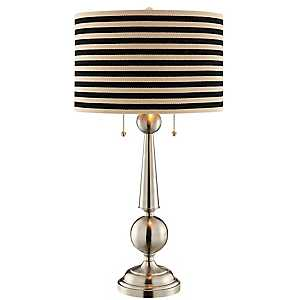 Brushed Silver Tapered Table Lamp