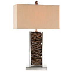 Metal and Nature Table Lamp