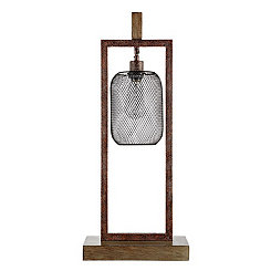 Hanging Cage Edison Table Lamp