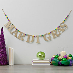 Mardi Gras Beaded Decorative Banner