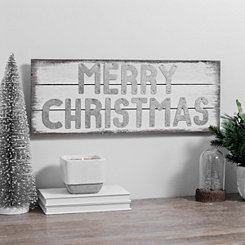 Merry Christmas White Pallet Sign Plaque