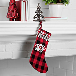 Joy Buffalo Check Stocking