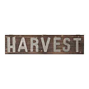 Galvanized Harvest Wood Pallet Sign Plaque