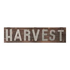 Galvanized Harvest Wood Pallet Sign Plaque