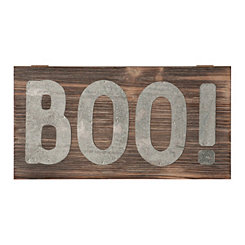 Galvanized Boo Wood Pallet Sign Plaque