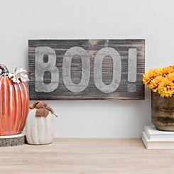 galvanized boo wood pallet sign plaque - Halloween Wall Decor