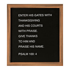 Enter His Gates Word Block