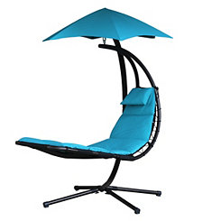 Turquoise Dream Lounge Chair with Umbrella