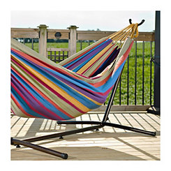 Tropical Double Hammock with Stand