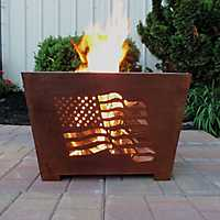 American Flag Box Fire Pit