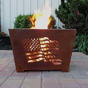 American Flag Box Fire Pit