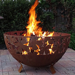 Leaf Pattern Bowl Fire Pit