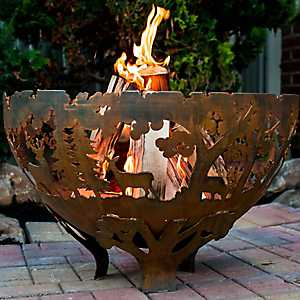Wildlife Pattern Bowl Fire Pit