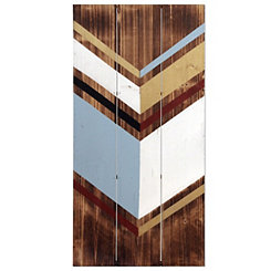 Geometric Reclaimed Wood Panel Plaque