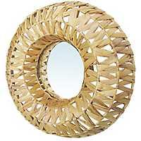 Natural Woven Basket Wall Mirror