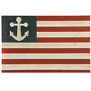 Wooden Nautical Flag Wall Plaque
