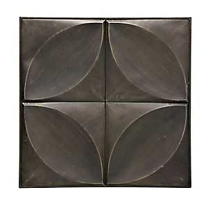 Antique Bronze Square Metal Wall Plaque