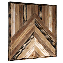 Reclaimed Wood Panel Wall Plaque