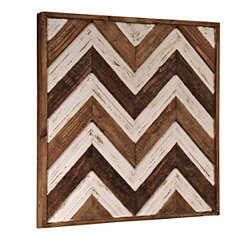 Chevron Reclaimed Wood Panel Wall Plaque