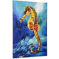 Tropical Sea Horse Canvas Art Print