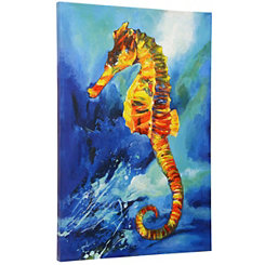 Tropical Sea Horse Canvas Art Print