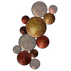 Copper and Bronze Circles Wall Plaque