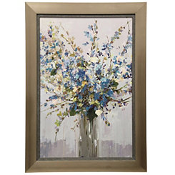 Blue Floral Framed Art Print