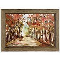 A Sunny Path Framed Art Print