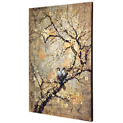 Birds on Branch Canvas Art Print
