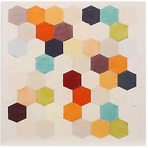 Multicolored Geometrics Canvas Art Print