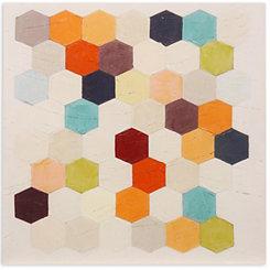 Multicolored Geometrics Canvas Art Print