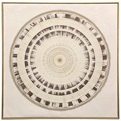 Medallion Framed Canvas Art Print