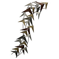 Birds in Flock Metal Wall Plaque