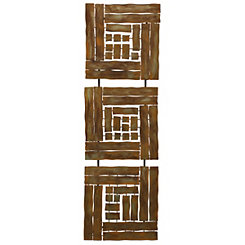 Copper Squares Metal Wall Plaque