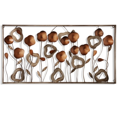 Metal Wall Plaque copper burst metal wall plaque | kirklands
