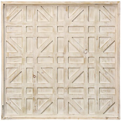 Geometric Grid Wooden Wall Plaque