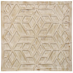 Geometric Wooden Wall Plaque
