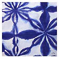 Blue and White Abstract I Canvas Art Print