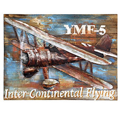 Airplane Wood Art Print