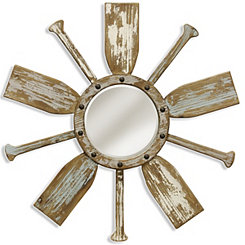 Weathered Paddle Wall Mirror