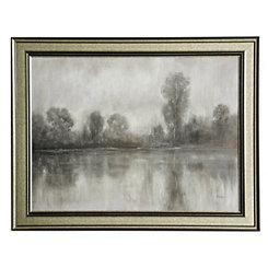 Grayscale Landscape Framed Art Print