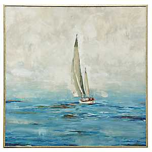 Coastal Sailboat Framed Art Print