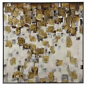 Contemporary Gold Tone Framed Art Print