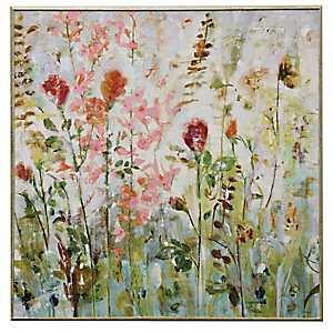 Traditional Flowers Framed Art Print