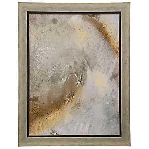 Gray Neutral Framed Art Print
