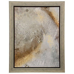 Gray Neutral Framed Art Print